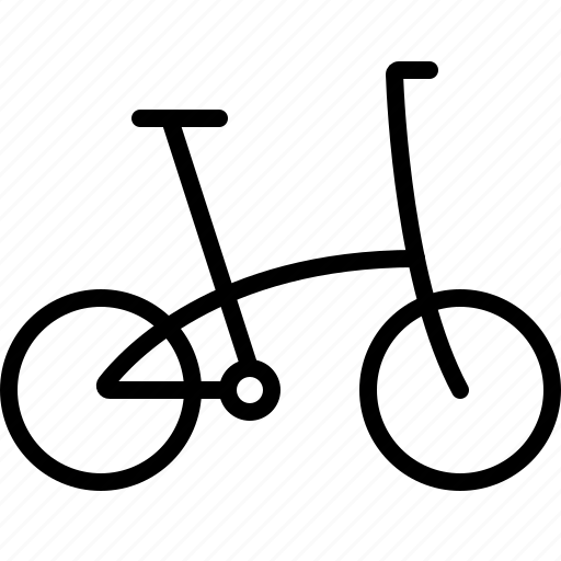 bike, cycling, folding, folding bicycle, folding bike, ride icon