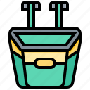 accessory, basket, bicycle, items, storage icon