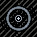 bicycle, circular, parts, tyre, wheel icon