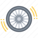 bicycle, circular, parts, tyre, wheel icon