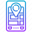 device, gps, location, navigation, tracking icon
