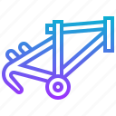 bike, component, frame, main, parts icon