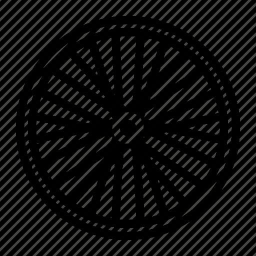 bicycle part, spoke, wheel icon