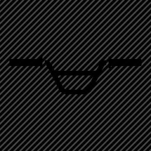 bicycle part, bike, handlebar icon