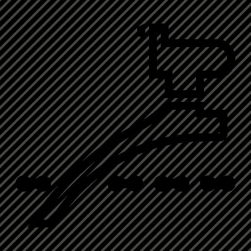 bicycle part, derailleur, front, front derailleur, shifter icon