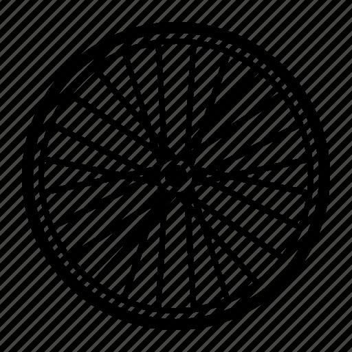 bicycle, bike, part, spoke, wheel icon