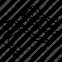 aero, bars, bicycle, bike, components, handlebar, parts icon