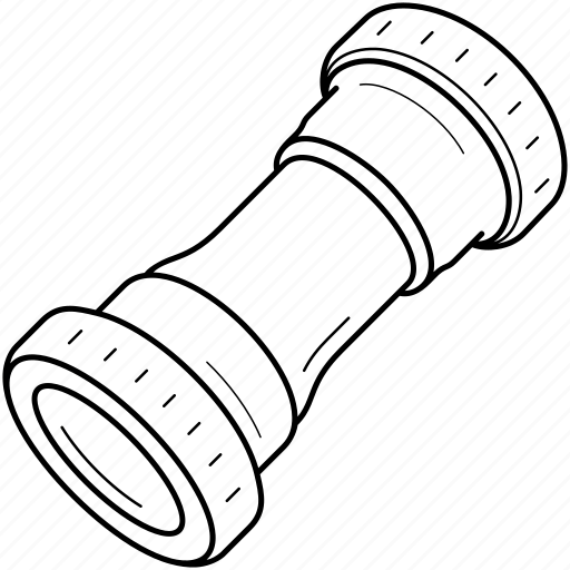 bearing, bicycle, bottom, bracket, connect, crankset, rotate icon