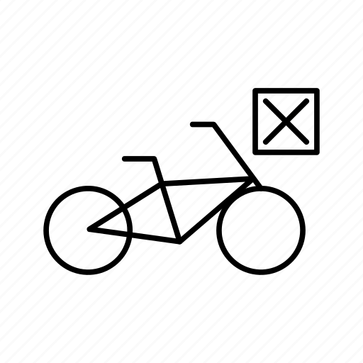 Bicycle, bike, closed, mark, transport, cross icon - Download on Iconfinder