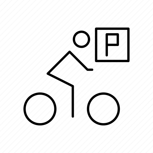 bicycle, bike, cyclist, mark, transport icon