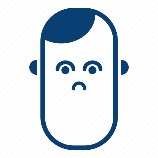 avatar, boy, face, male, man, sad, user icon