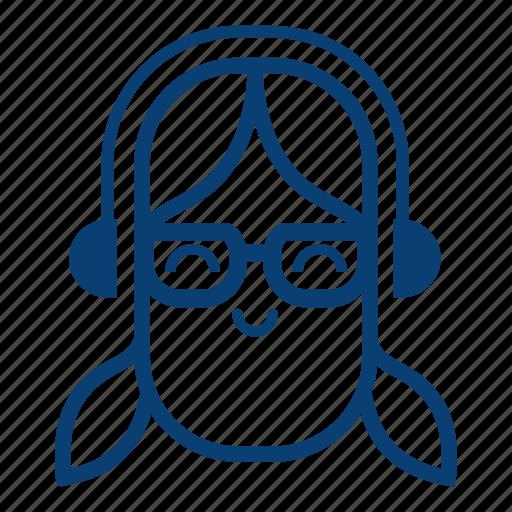 avatar, emotion, face, female, girl, smile, user icon