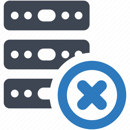 database, error, server icon