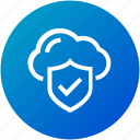 cloud, protection, security, successfully icon