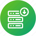 database, download, hosting, server icon