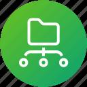 data, folder, share, sharing icon