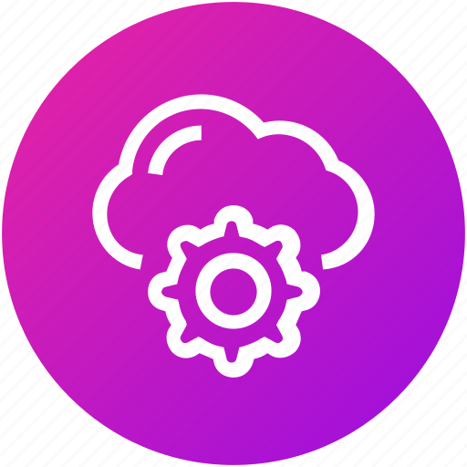 cloud, network, settings icon