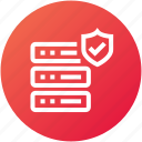 database, hosting, protection, server icon