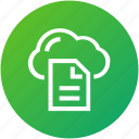 cloud, document, file, network icon