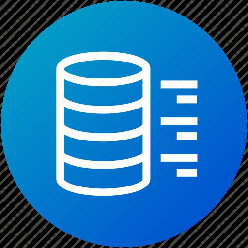 big data, network, server, storage icon