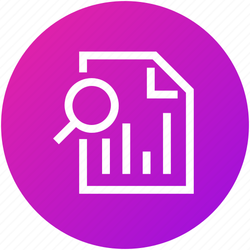 data, document, file, searching icon