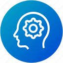 mind, network, settings, thinking icon
