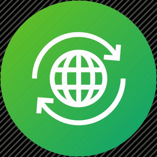 global, network, sync, world icon