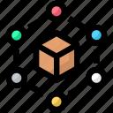 big data, box, network icon
