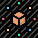 big data, box, sharing icon