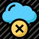 cloud, error, network, warning icon