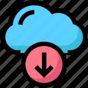 cloud, download, network, storage