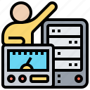 monitor, performance, server, speed, system icon