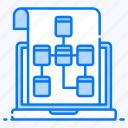 algorithm, data flow, data model, flow diagram, flowchart, hierarchy, sitemap icon