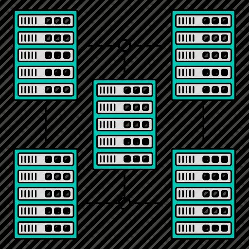 big, data, server, storage, technology icon