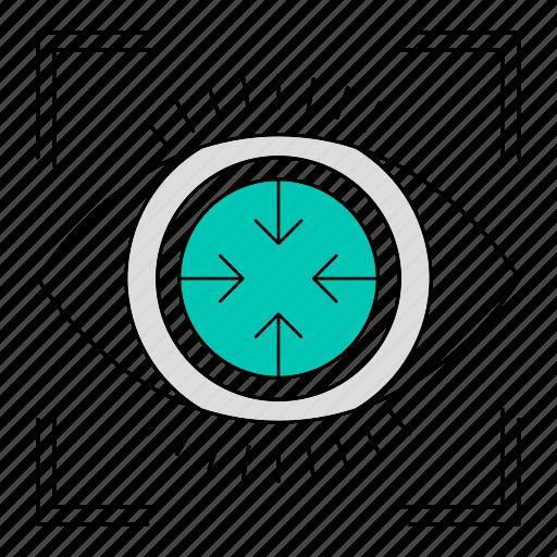 data, eye, focus, goal, storage, technology icon