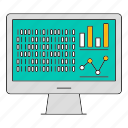 computer, data, frameworks, report, storage, technology icon
