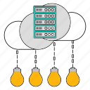 data, idea, innovation, server, storage, technology icon