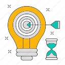 data, goal, idea, setting, storage, target, technology icon