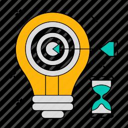 data, goal, idea, setting, storage, target, technology icon
