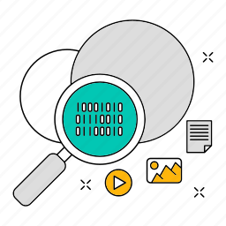 cloud, data, database, search, storage, technology icon