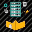 data, database, information, save, storage, technology icon