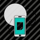 app, data, database, mobile, storage, sync, technology icon