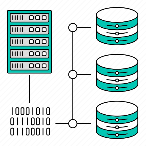 binary code, data, database, protocol, storage, technology icon
