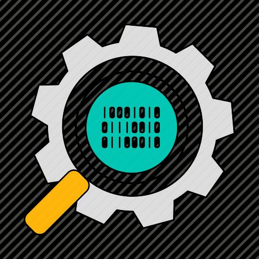 data, database, optimization, search, storage, technology icon