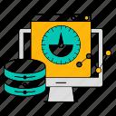 computer, data, database, storage, technology, velocity icon