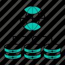 data, database, storage, technology, volume icon