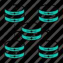data, database, scalability, storage, technology icon
