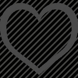 best, empty, favorites, heart, like, love, valentines icon
