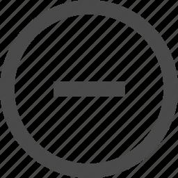 minus, remove, sign icon