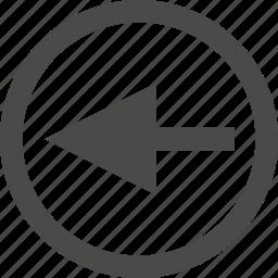 arrow, left, urrow icon